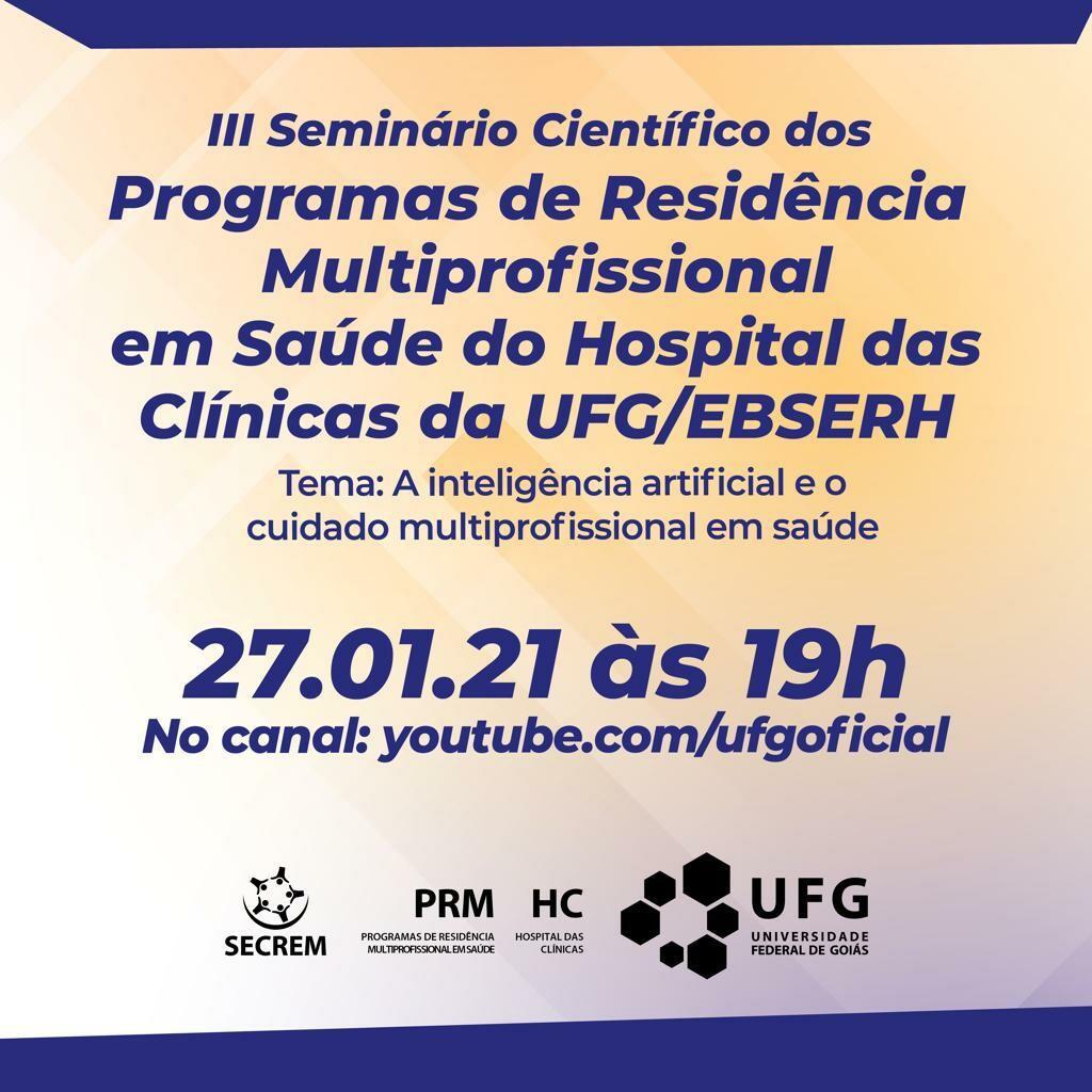 III SEMINÁRIO CIENTÍFICO DOS PROGRAMAS DE RESIDÊNCIA MULTIPROFISSIONAL