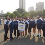 Faculdade de Enfermagem marcando presença na caminhada Nursing Now