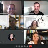 Captura de tela mostra reunião virtual entre representantes regionais do Centro-Oeste do Fórum de Coordenadores do programa Universidade Aberta do Brasil.