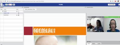 Captura da tela da Webconferência RNP