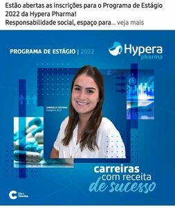 Estão abertas as inscrições para o Programa de Estágio 2022 da Hypera Pharma.