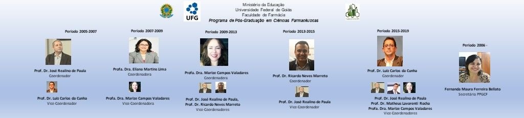 Ex-Coordenadores do PPGCF 2005-2019.