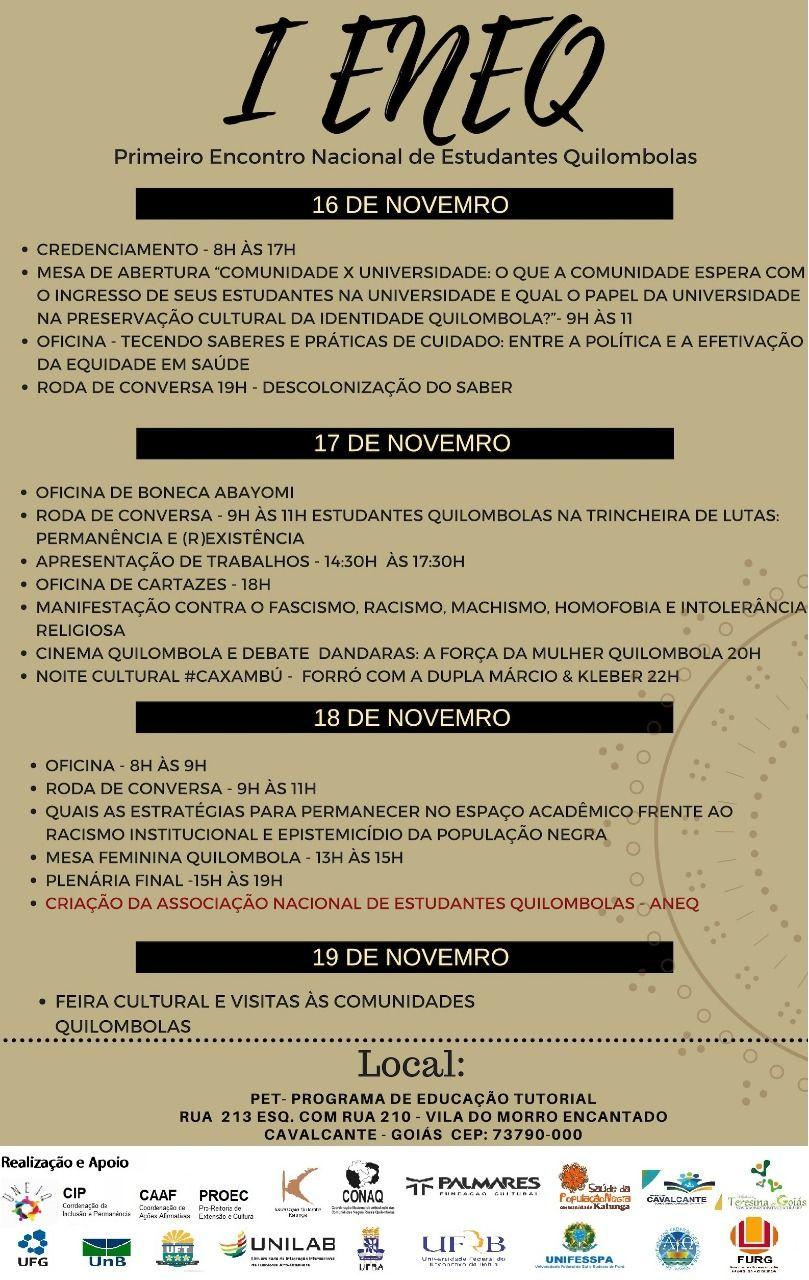 32f05c06bb998 III Encontro de Pesquisadores da Comunidade Kalunga. 30 e 31 de março, do  auditório da PUC Goiás. Inscrições de trabalhos até o dia  10 de março de  2017. ...