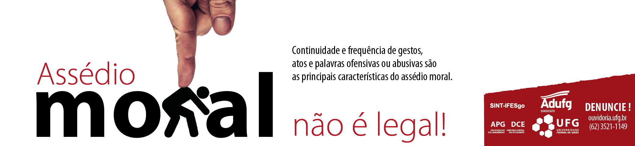 Banner Assédio Moral Campanha