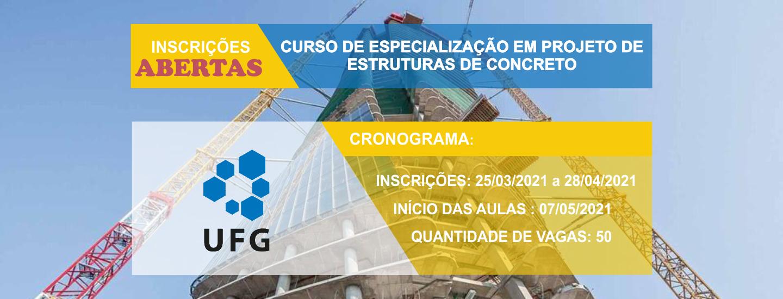 Edital Publicado!! Curso de Especialização em Projeto de Estruturas de Concreto