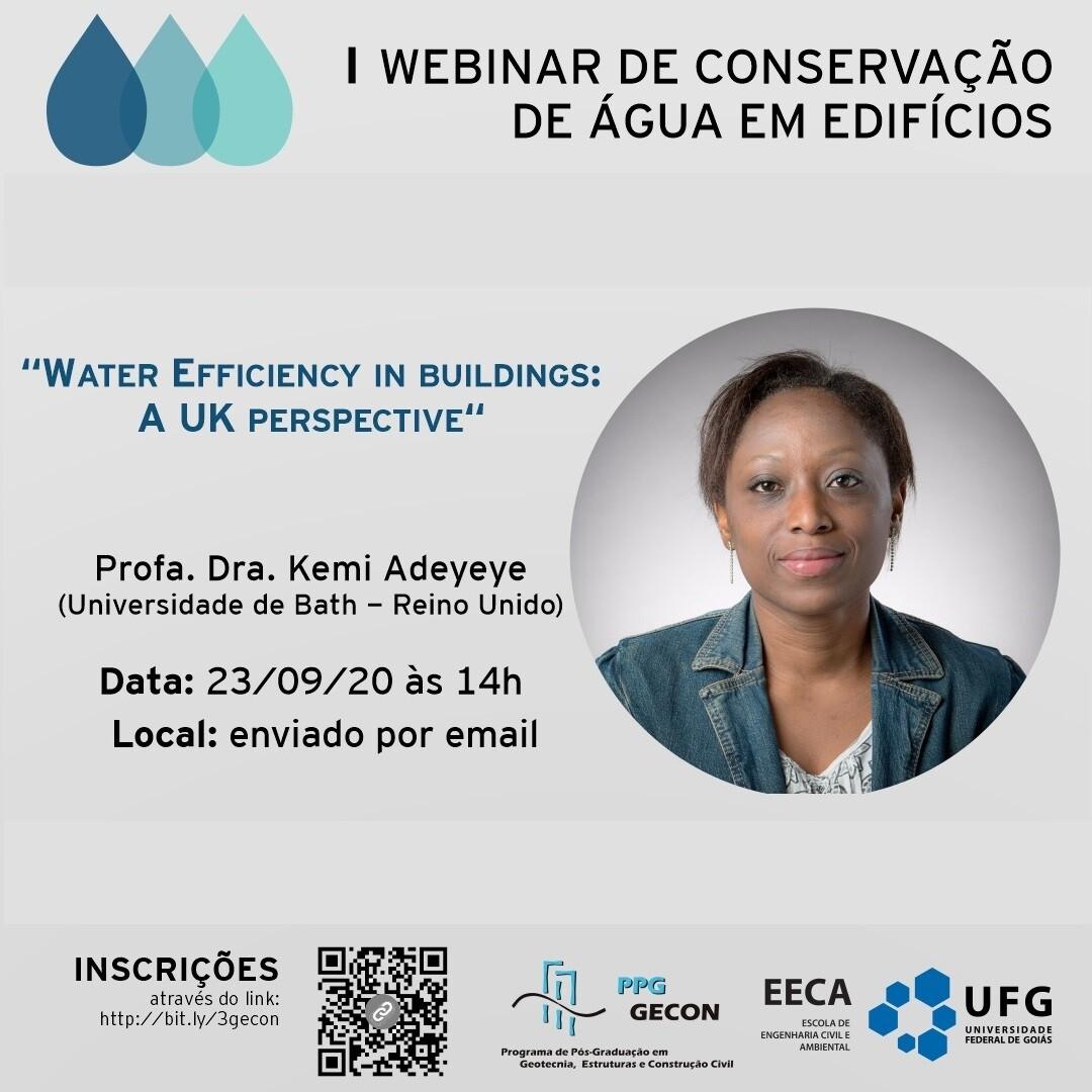 I  Webnar de Conservação de Águas em Edifícios