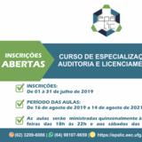 Banner - Curso de Especialização em Perícia, Auditoria e Licenciamento Ambiental