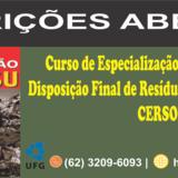 Curso de Especialização em Tratamento e Disposição Final de Resíduos Sólidos e Líquidos CERSOL