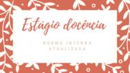 NORMA ESTÁGIO DOCÊNCIA 2021