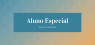Edital Aluno Especial Edital nº001/2019