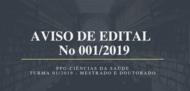 Banner Edital n. 001 2019