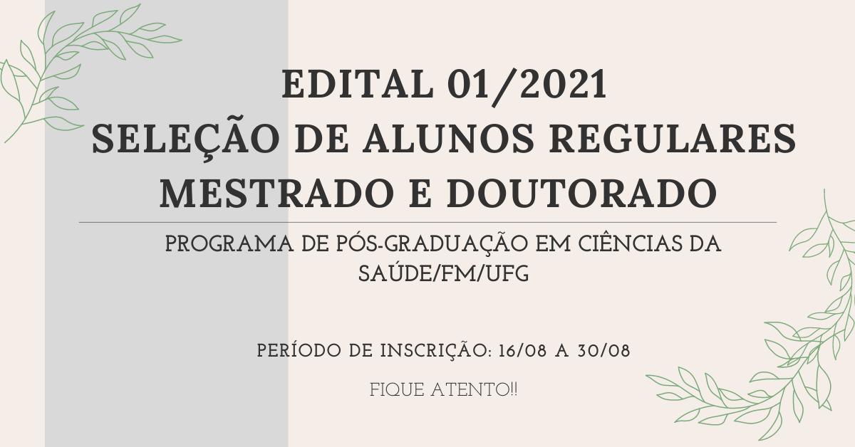 BANNER - EDITAL DE SELEÇÃO 2021