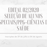 Banner Edital aluno especial  2020/2