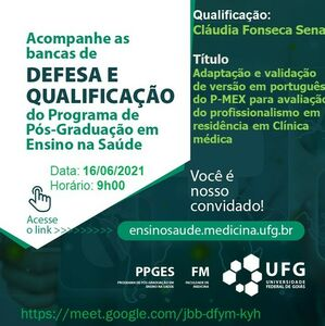 Convite do Exame de Qualificação Claudia Fonseca Sena