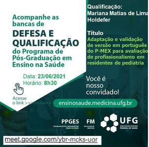 Convite do Exame de Qualificação de Mariana Matias Lima Holdefer