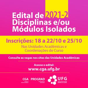 Post Edital Disciplinas/Módulos isolados - ingresso em 2021/2