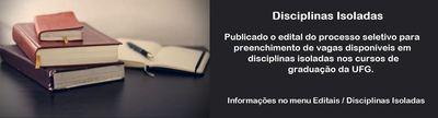 Disciplinas Isoladas - Divulgado o Edital