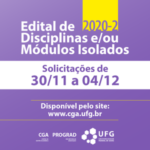 post Edital disciplinas Isoladas 2020 2