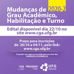 post Edital Mudanças de grau, turno e Habilitação 2020 2