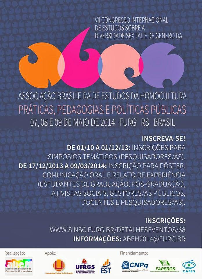 VII Congresso Internacional de Estudos sobre a Diversidade Sexual e de Gênero (ABEH).
