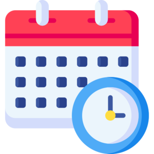 Schedule - By flaticon.com