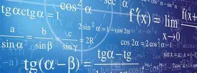 Quadro azul com contas para Matemática