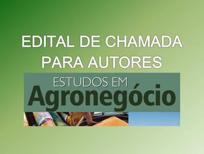 Edital chamada autores - Estudos em Agronegócio