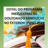 EDITAL PDSE - 2021