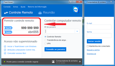 Tela do Team Viewer