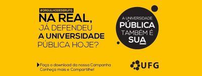 Campanha defenda a UFG