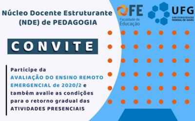 Convite avaliação ERE NDE Pedagogia 2021.1