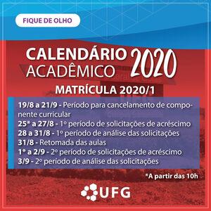 Novo calendário acadêmico 2020