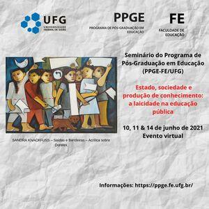 Seminário PPGE 2021 Divulgação