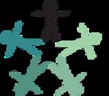 Marca do evento, constituída por ilustração colorida com desenho de cinco figuras  humanas em posição frontal, com braços e pernas abertas. As figuras estão conectadas pelos pés e  formam uma estrela vazada. Uma delas é de cor preta, localizada na ponta superior da estrela, e as  demais variam em tonalidades de verde.