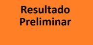 """Texto """"Resultado Preliminar"""" em um fundo laranja"""