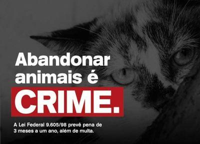 ABANDONO DE ANIMAIS É CRIME!