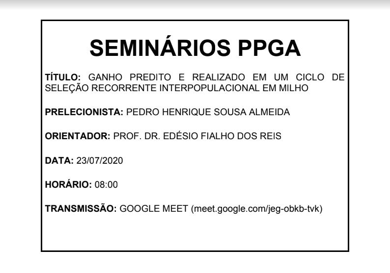 seminário pedro
