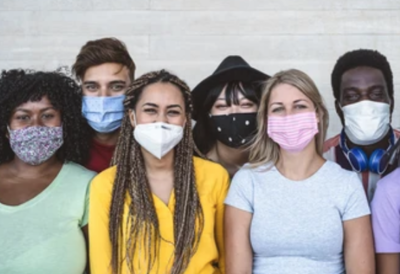 PNG Estudantes de máscara