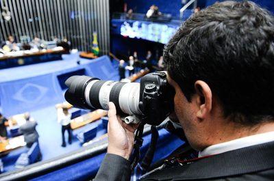 Fotografias no Senado