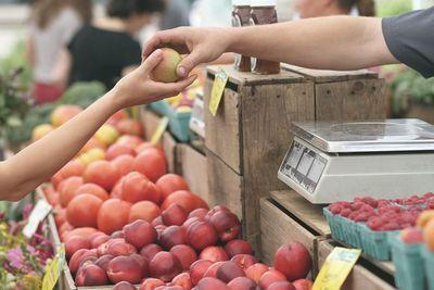 Agroquímico em maçã