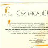 Certificado de Prestação de  contas 2018