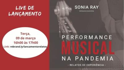 Live lançamento livro Sonia Ray 09 março 2021