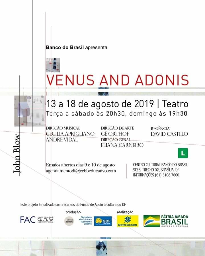 cartaz- Venus and Adonis - 2019