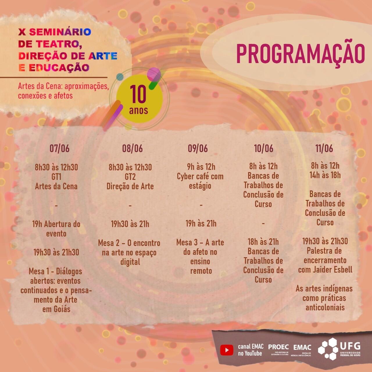 X Seminário de Teatro, Direção de Arte e Educação 6