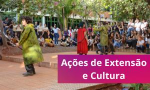 card site Ações de extensão e cultura