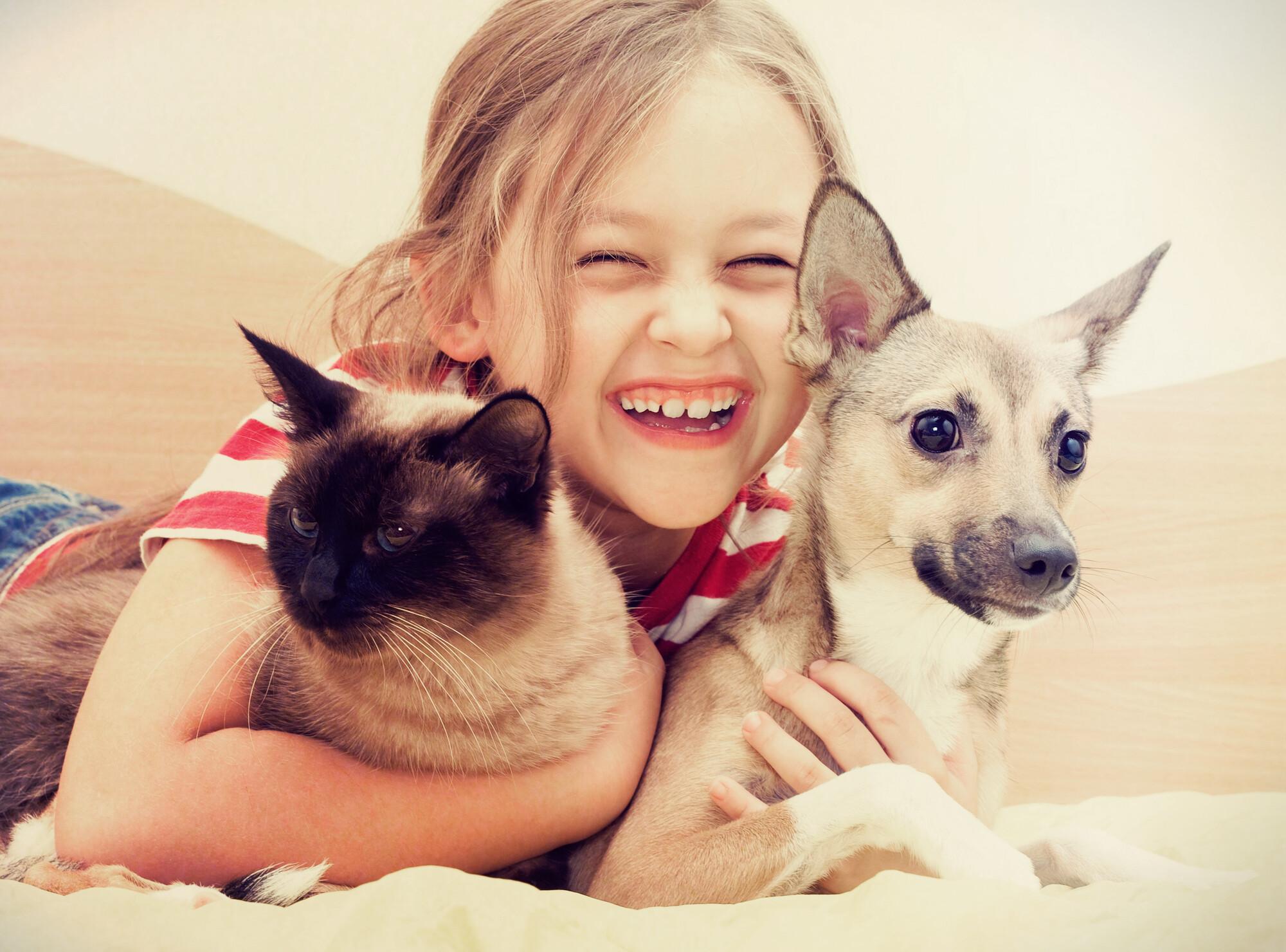 Criança e Animais