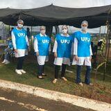 PET presente na vacinação dos professores e servidores da UFJ