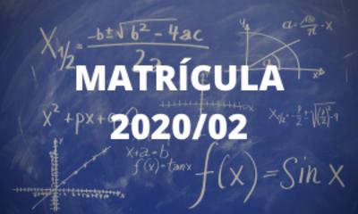 Capa - matrícula 2020/02