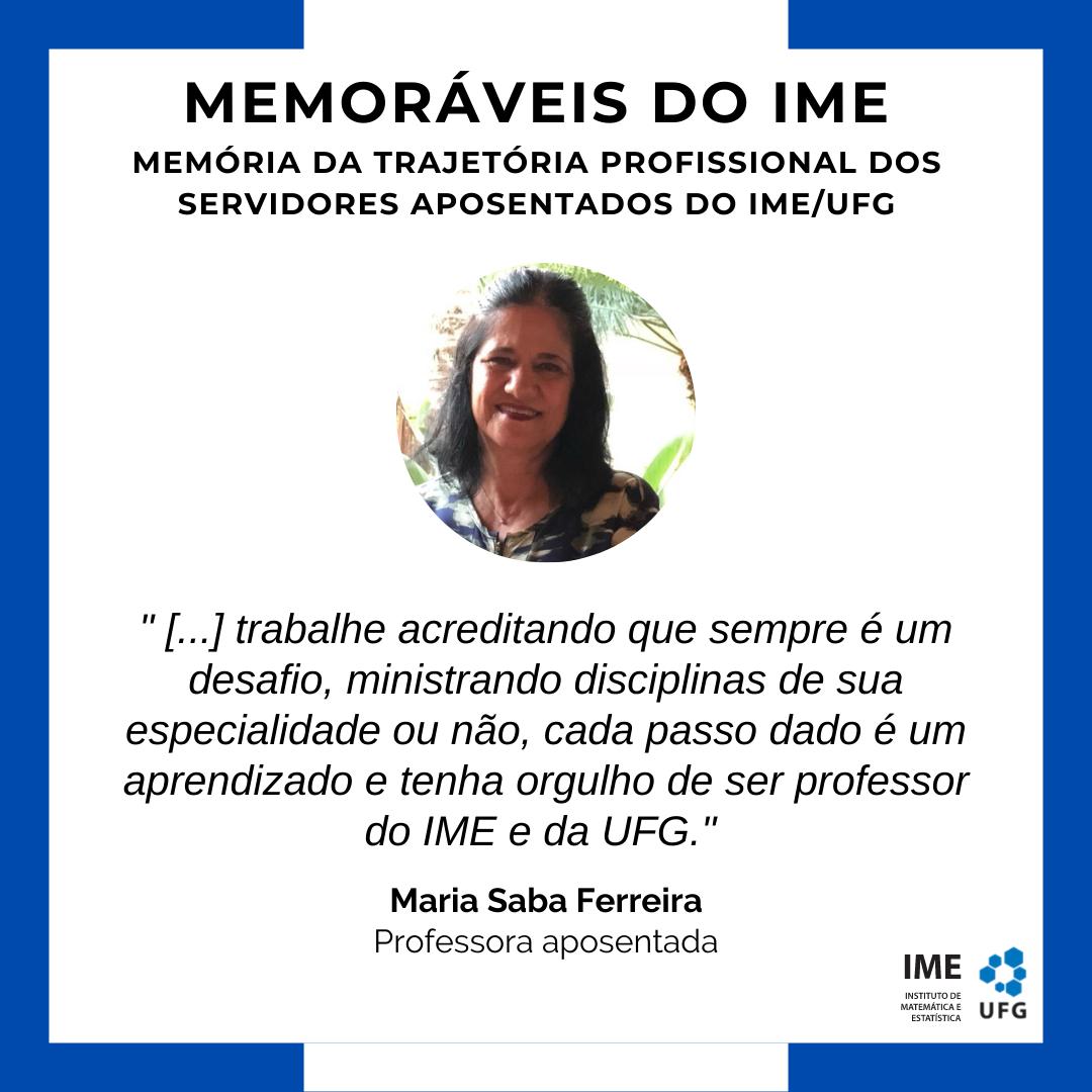Memoráveis do IME - Maria Saba