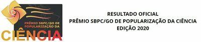 Resultado oficial SBPCGo